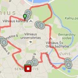 Bėgimo Vilniaus senamiesčiu trasa