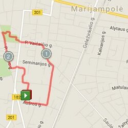 2.72 km trasa Marijampolėje