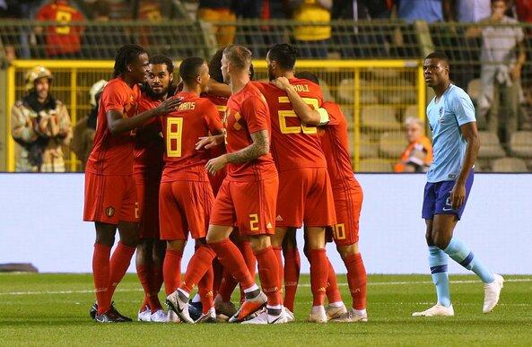 Belgija - Olandija rungtynių akimirka