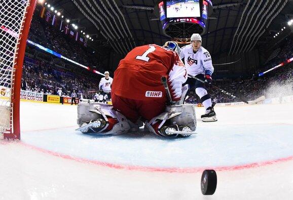Danija – JAV rungtynių akimirka