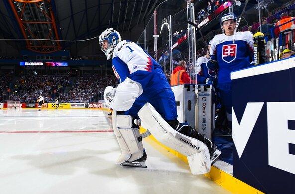 Slovakijos – Vokietijos rungtynių akimirka