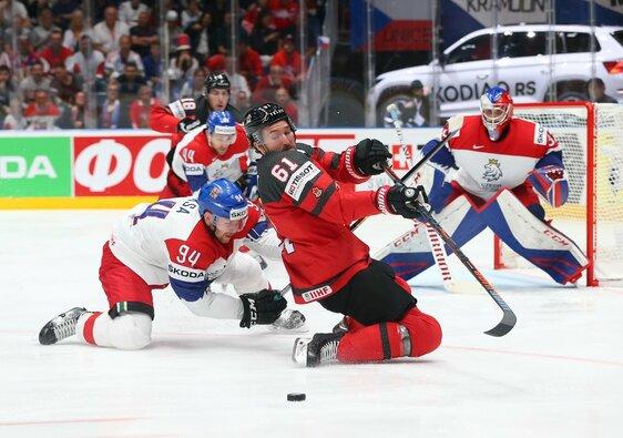 Kanada –Čekija rungtynių akimirka