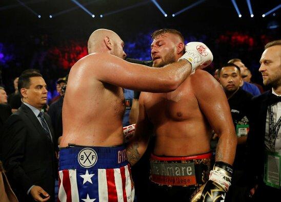 Tysono Fury ir Tomo Schwarzo kovos akimirka