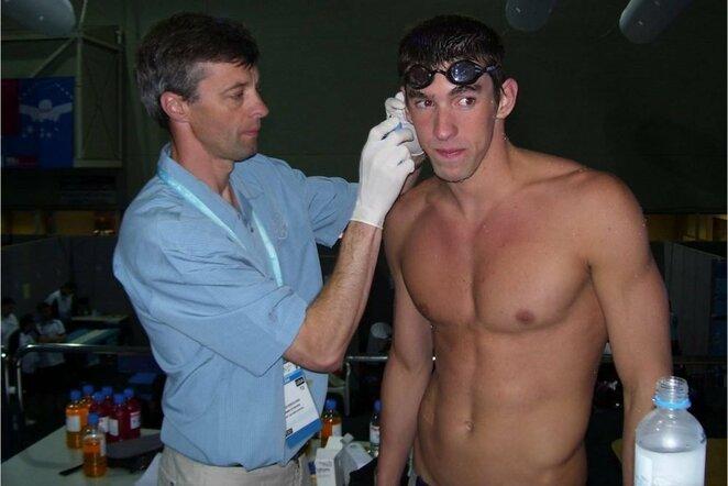 Genadijus Sokolovas ir Michaelas Phelpsas | asmeninio archyvo nuotr.