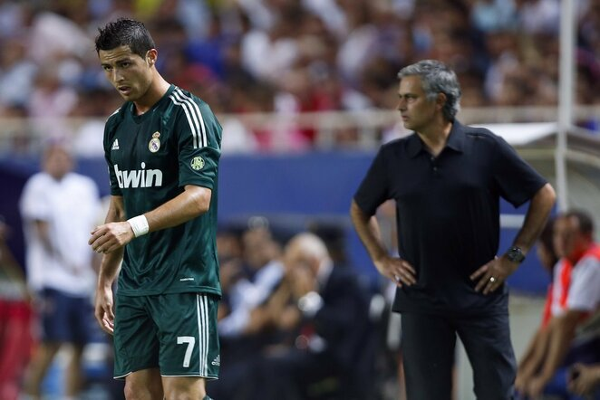 Cristiano Ronaldo ir Jose Mourinho | Scanpix nuotr.