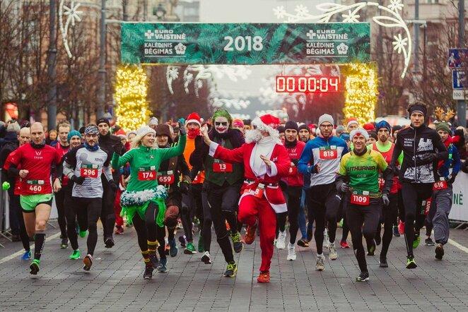 """""""Eurovaistinės Kalėdinis bėgimas""""   Organizatorių nuotr."""