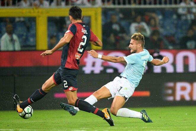 """Genoa"" - ""Lazio"" rungtynių akimirka   Scanpix nuotr."