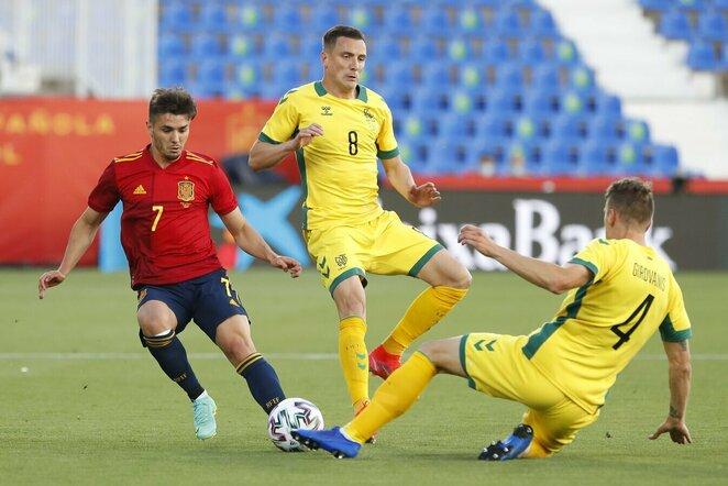 Ispanijos U-21–Lietuvos rungtynių akimirka | Scanpix nuotr.