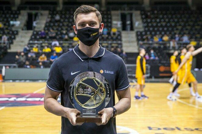 Apdovanotas reguliariojo sezono MVP – E.Fridrikssonas | Roko Lukoševičiaus/BNS Foto nuotr.