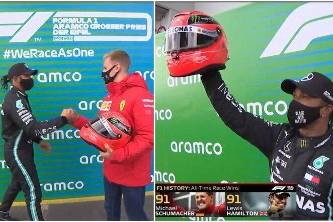 "Lewisas Hamiltonas ir Mickas Schumacheris | ""Twitter"" nuotr."