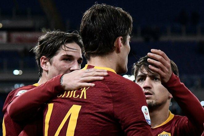 """""""AS Roma"""" – """"Sassuolo"""" rungtynių akimirka    Scanpix nuotr."""