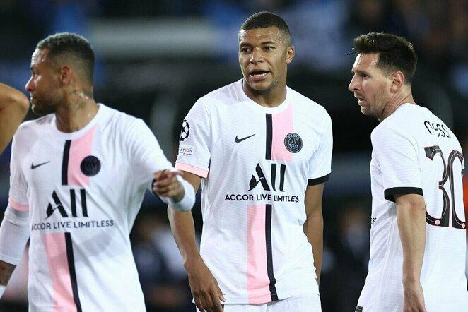 Neymaras, Kylianas Mbappe ir Lionelis Messi   Scanpix nuotr.