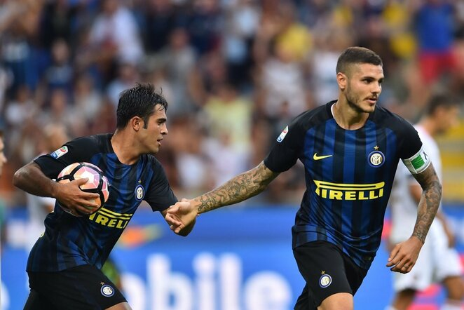 """""""Inter"""" futbolininkai švenčia įvartį   Scanpix nuotr."""