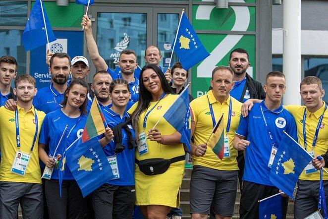 Lietuvos ir Kosovo sportininkai | Vytauto Dranginio nuotr.