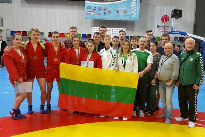 Lietuvos jaunių ir jaunimo sambo rinktinė   Organizatorių nuotr.