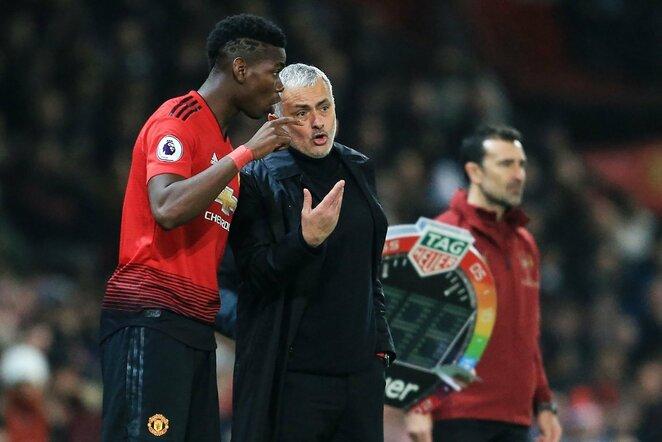 Paulis Pogba ir Jose Mourinho | Scanpix nuotr.