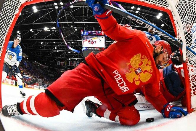 Suomių ir rusų rungtynės   IIHF nuotr.