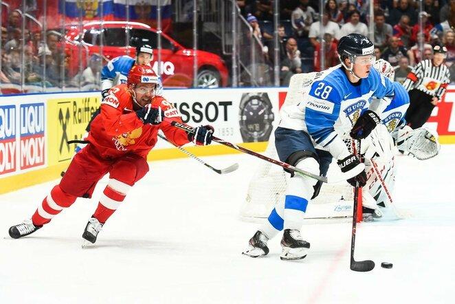 Suomių ir rusų rungtynės | IIHF nuotr.
