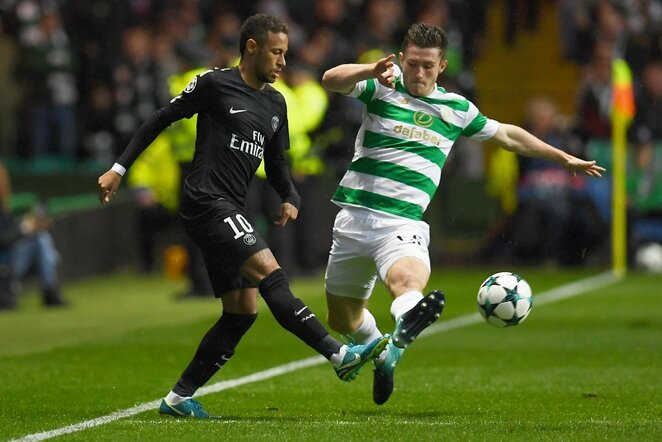 """Celtic"" - PSG rungtynių akimirka   Scanpix nuotr."