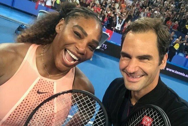 Serena Williams ir Rogeris Federeris | Instagram.com nuotr
