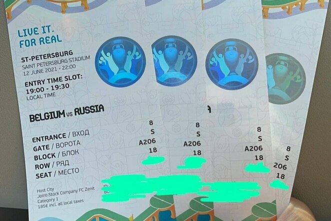 """Bilietai į Europos čempionatą   """"Twitter"""" nuotr."""