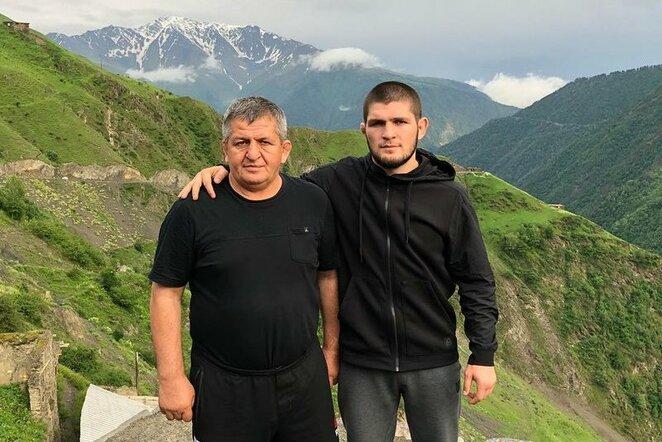 Tėvas ir sūnus Nurmagomedovai | Instagram.com nuotr