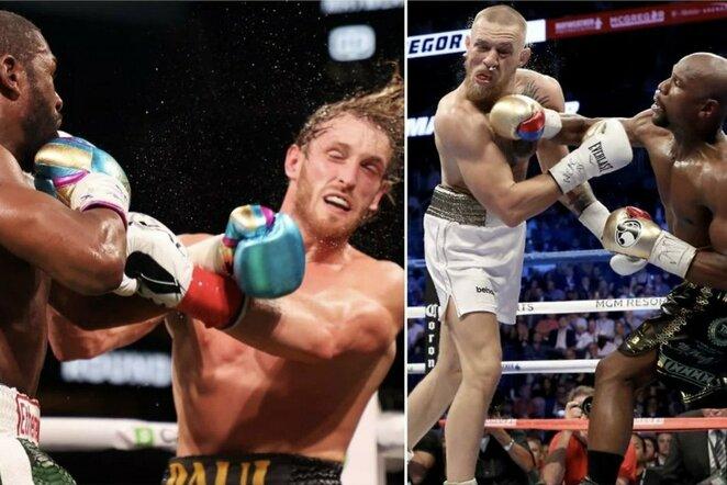 Floydo Mayweatherio kovos su Loganu Paulu ir Conoru McGregoru | Organizatorių nuotr.