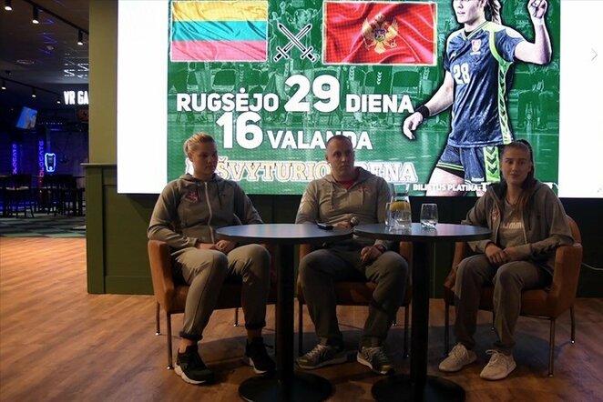 Brigita Ivanauskaitė, Karolis Kaladinskas ir Klaudija Šidlauskytė | rankinis.lt nuotr.