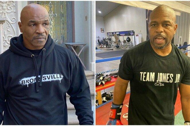 Mike'as Tysonas ir Roy Jonesas jaunesnysis   Instagram.com nuotr