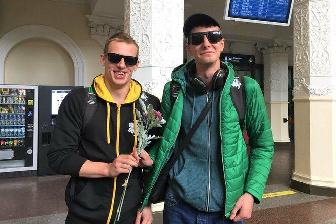 Edgaras Matakas ir Mindaugas Dvylaitis   Lietuvos paralimpinio komiteto nuotr.