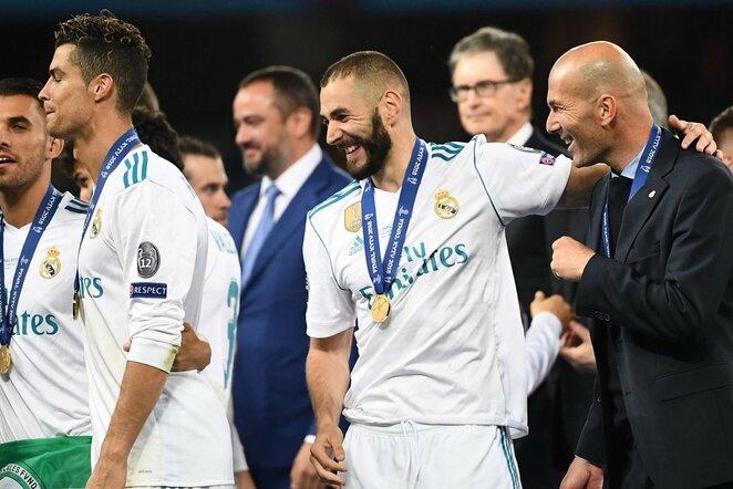 Zinedine'as Zidane'as ir Karimas Benzema   Scanpix nuotr.