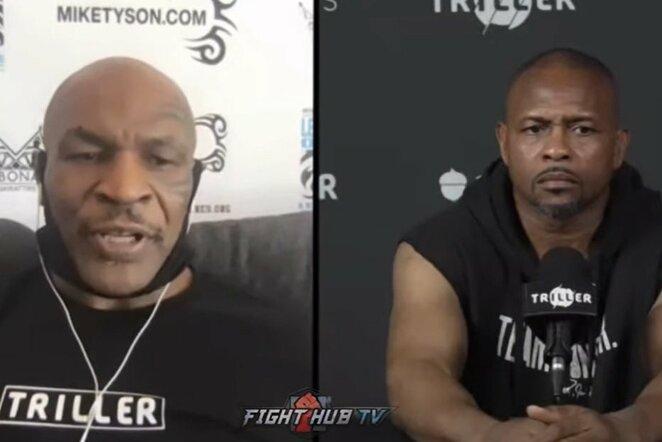 Mike'as Tysonas ir Roy Jonesas jaunesnysis | Youtube.com nuotr.