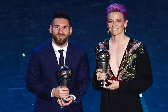 Lionelis Messi ir Megan Rapinoe   Scanpix nuotr.