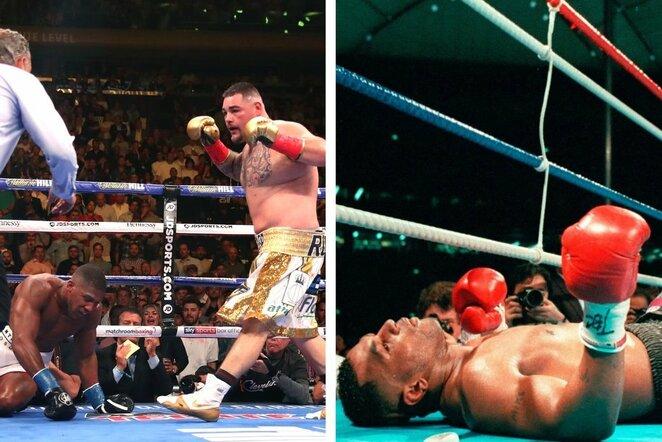 Anthony Joshua ir Mike'as Tysonas patyrė netikėtus nokautus | Scanpix nuotr.