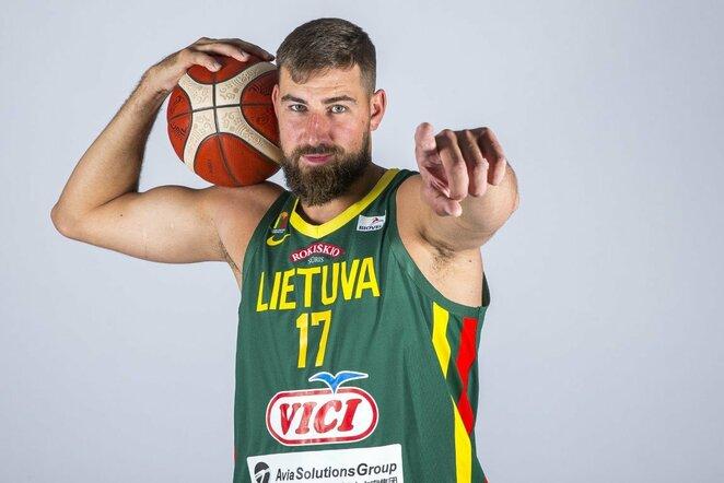 Lietuvos vyrų krepšinio rinktinės fotosesija   Roko Lukoševičiaus nuotr.