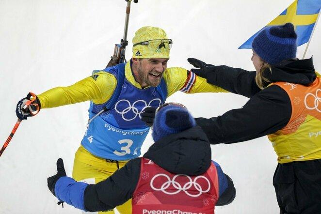 Švedijos biatlono rinktinė   Scanpix nuotr.