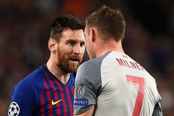 Lionelis Messi ir Jamesas Milneris   Scanpix nuotr.