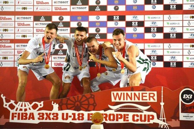Lietuvos jaunių 3x3 krepšinio rinktinė Europos čempionate | FIBA nuotr.