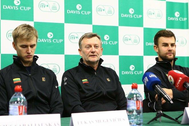 Lietuvos ir Portugalijos teniso rinktinių treniruotės bei spaudos konferencija | Organizatorių nuotr.