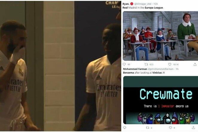 "Karimas Benzema ir Ferlandas Mendy | ""Twitter"" nuotr."