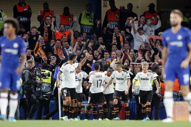 """Chelsea"" –""Valencia"" rungtynių akimirka   Scanpix nuotr."