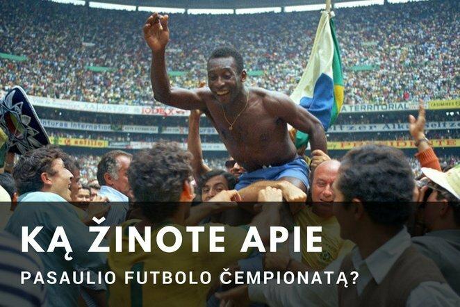 Ką žinote apie Pasaulio futbolo čempionatą?