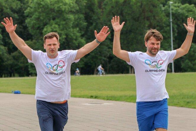Lietuviškos olimpinės mylios bėgime – paralimpiečių startai   Lietuvos paralimpinio komiteto nuotr.