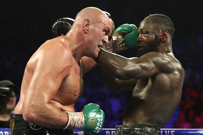 Tysonas Fury ir Deontay Wilderis | Scanpix nuotr.