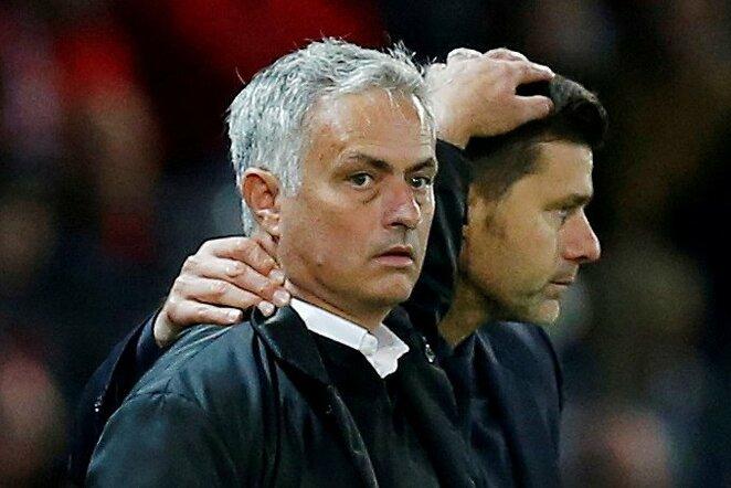 Jose Mourinho, Mauricio Pochettino | Scanpix nuotr.