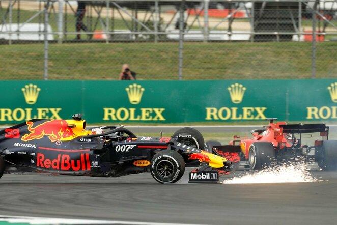 Maxas Verstappenas ir Sebastianas Vettelis   Scanpix nuotr.