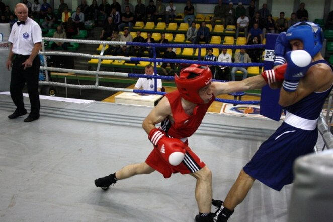 Čempionato akimirka | boksopasaulis.lt nuotr.