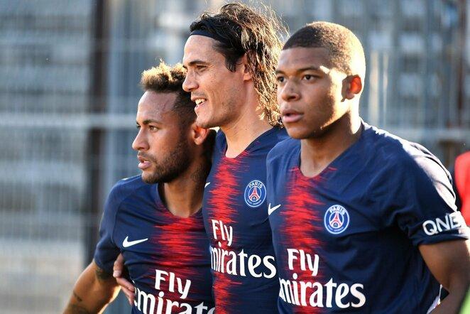 Neymaras, Edinsonas Cavani ir Kylianas Mbappe | Scanpix nuotr.