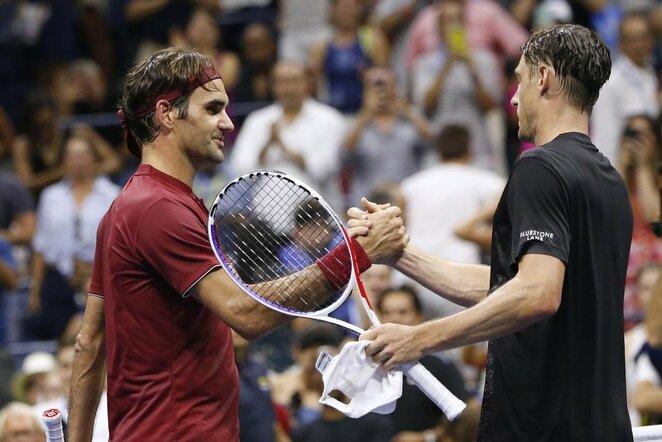 Rogeris Federeris ir Johnas Millmanas   Scanpix nuotr.