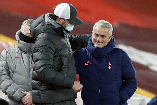 Jurgenas Kloppas ir Jose Mourinho | Scanpix nuotr.